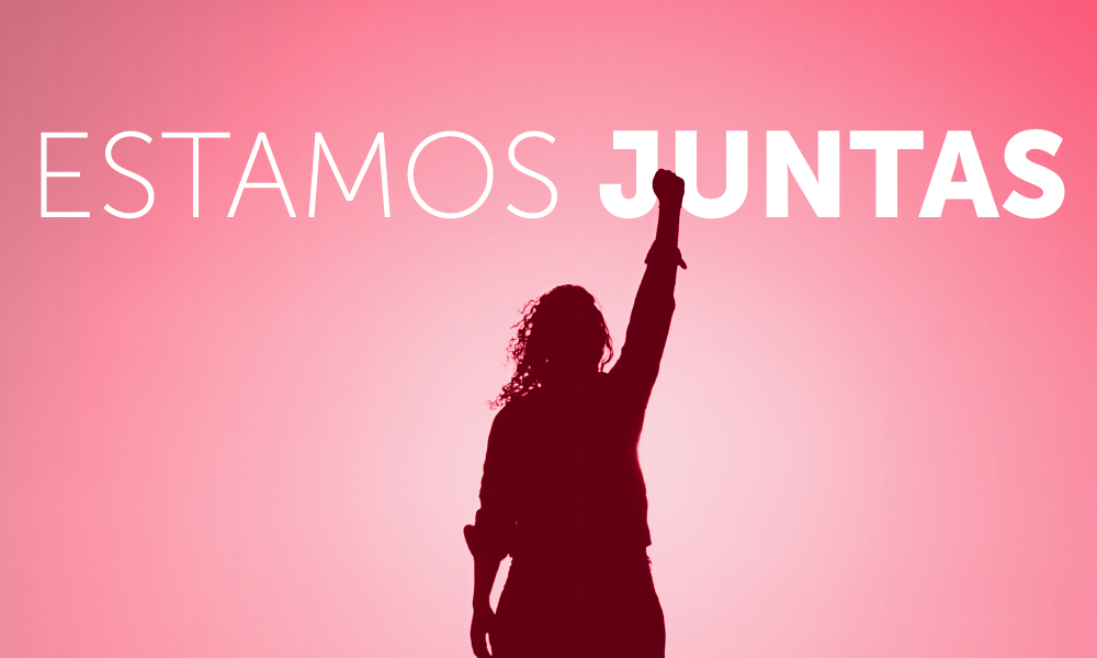 mes da mulher, estamos juntas. historia da luta feminista.