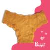 calcinha amarelo damasco com poá